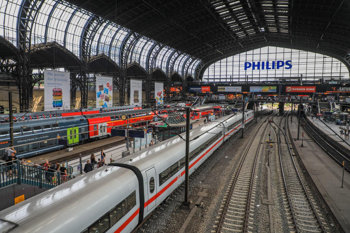 Met de trein naar Hamburg